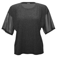 337 Brand Jersey Front Top Charcoal Heather Grey Black