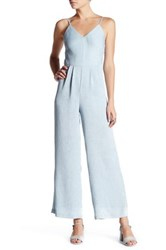Endless Rose Sleeveless Ribbed Jumpsuit Blue