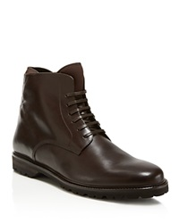 Theory Lug Sole Boots Brown