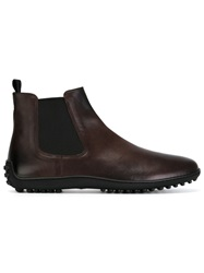 Car Shoe Ankle Boots Brown