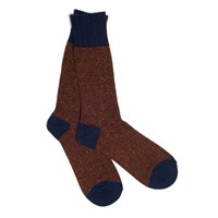 Anonymous Ism Red And Brown Stripe Crew Socks