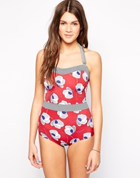 Lepel Hello Sailor Swimsuit Red