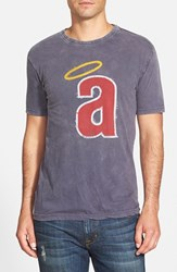 Men's Red Jacket 'Los Angeles Angels Scatter' Burnout T Shirt