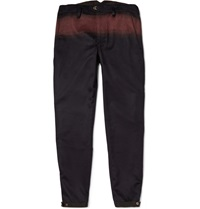 Kolor Midnight Blue Slim Fit Printed Wool And Cashmere Blend Trousers