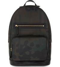 Burberry Marden London Check Camouflage Backpack Multi