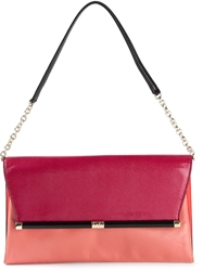 Diane Von Furstenberg Large '440' Envelope Clutch Pink And Purple