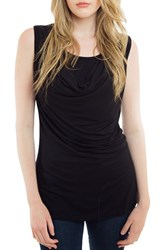 Nurture Elle Women's Cowl Neck Maternity Nursing Tank Black