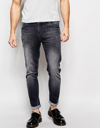 Hoxton Denim Wash Black With Distressing Skinny Jean Black