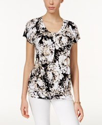 Jm Collection Printed Banded Hem Top Only At Macy's Black
