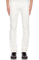 Naked And Famous Skinny Guy Ivory Power Stretch 12Oz White