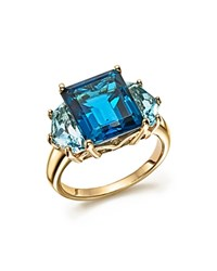 Bloomingdale's London And Sky Blue Topaz Statement Ring In 14K Yellow Gold Gold Blue