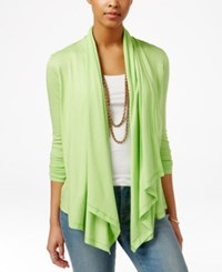 American Living Draped Cardigan Only At Macy's Creole Green