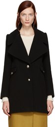 See By Chloe Black Double Breasted Coat