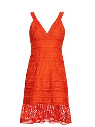 Diane Von Furstenberg Tiana Dress Orange