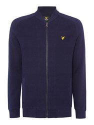 Lyle And Scott Double Faced Bomber Jacket Navy