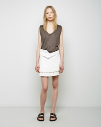 Isabel Marant Kyler Cotton Mini Skirt White