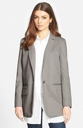 Trouve Women's Trouve Long Boyfriend Blazer Grey Light Heather