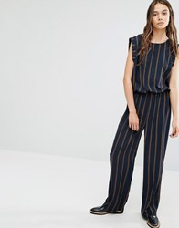 Selected Sleeveless Jumpsuit Blue
