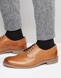 Lambretta Derby Shoes In Tan Leather Beige