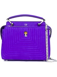Fendi Small 'Dotcom Click' Tote Pink And Purple