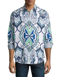 Robert Graham Coulter Pine Paisley Woven Shirt Multi