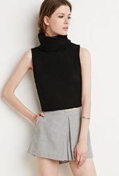 Forever 21 Turtle Neck Sweater Vest Black