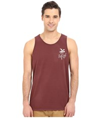 Rip Curl Palm Split Heritage Tank Top Deep Red Men's Sleeveless