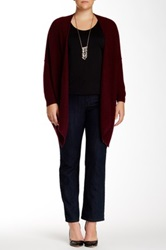 14Th And Union Cashmere Easy Kerchief Cardigan Plus Size Red