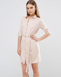 Ax Paris Suedette Shirt Dress Pink