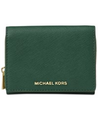 Michael Kors Jet Set Travel Medum Zip Around Billfold Wallet Moss