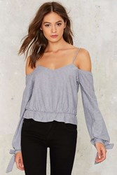 Chill Wave Striped Blouse