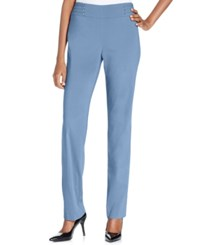 Jm Collection Petite Studded Pull On Pant Gentle Blue