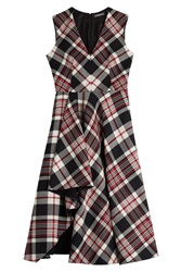 Alexander Mcqueen Virgin Wool Tartan Dress Multicolor