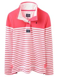 Joules Cowdray Stripe Sweatshirt Neon Candy Stripe