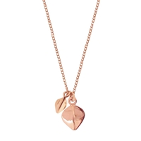Dinny Hall 22Ct Rose Gold Vermeil Tiny And Small Lotus Petal Pendant Necklace Rose Gold
