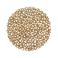Chilewich Pressed Pebble Round Placemat Brass