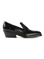 Cnc Costume National Costume National Pointed Toe Chunky Low Heel Loafers Black