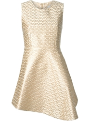 Tome Asymmetric Hem Flared Dress Nude And Neutrals