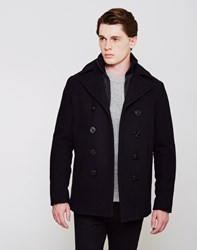 Schott Cyclone Peacoat With Removable Lining Navy
