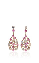 Wendy Yue Opal And Ruby Earrings Pink