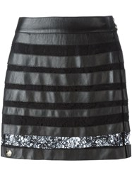 Philipp Plein 'Provocation' Mini Skirt Black