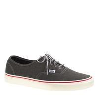Unisex Vans For J.Crew Washed Canvas Authentic Sneakers Washed Black