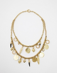 Made Double Charm Necklace Brass