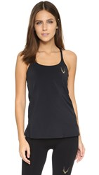Lucas Hugh Core Performance Cross Back Tank Black