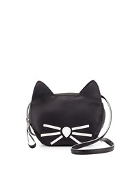 Karl Lagerfeld Faux Leather Cat Coin Purse Black