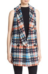 Milly Women's 'Lindsey' Sleeveless Houndstooth Jacket Multi