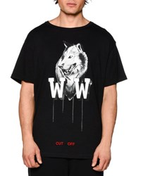 Off White Othello's Wolf Short Sleeve Graphic T Shirt Black