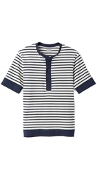 United Stock Dry Goods Jersey Baseball Shirt Breton Stripe