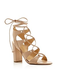 Ivanka Trump Kavita Lace Up High Heel Sandals Compare At 140 Brown