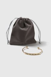 Topshop Love The Life You Live Cuff Gold